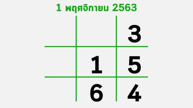 แนวทางหวยรัฐบาลจากไทยรัฐ งวด 1/11/63