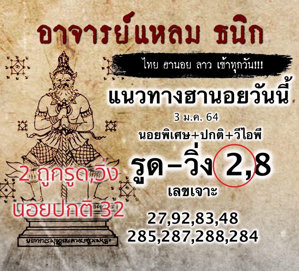 แนวทางหวยฮานอยพาถูกรางวัลวันที่ 3/1/64