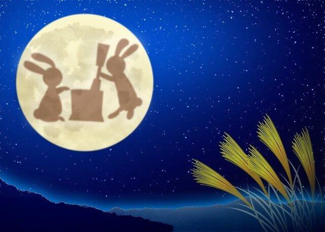 กระต่ายสองตัวบนดวงจันทร์